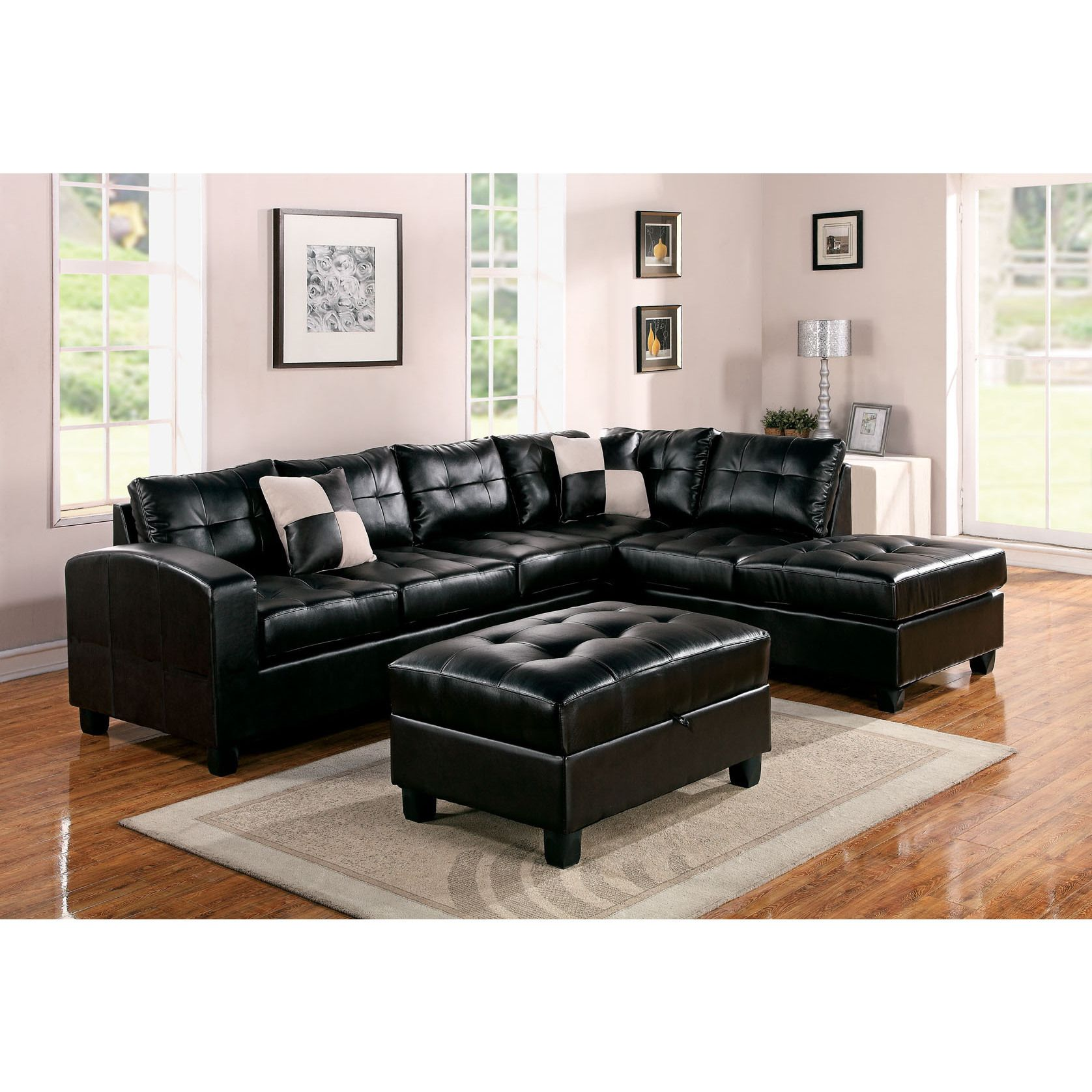 Kiva Bonded Leather Match Sectional Sofa by Acme