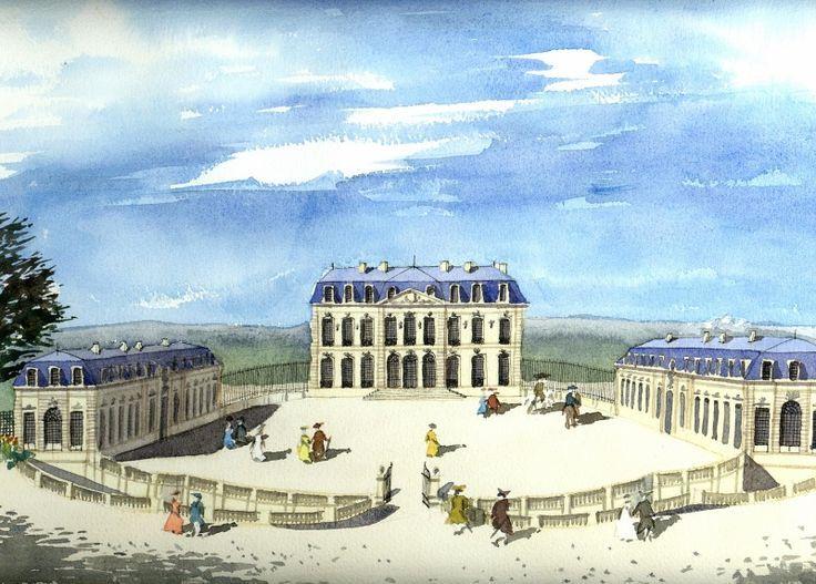 Chateau de Bellevue, one of Pompadour's exquisite retreats. Gone ...