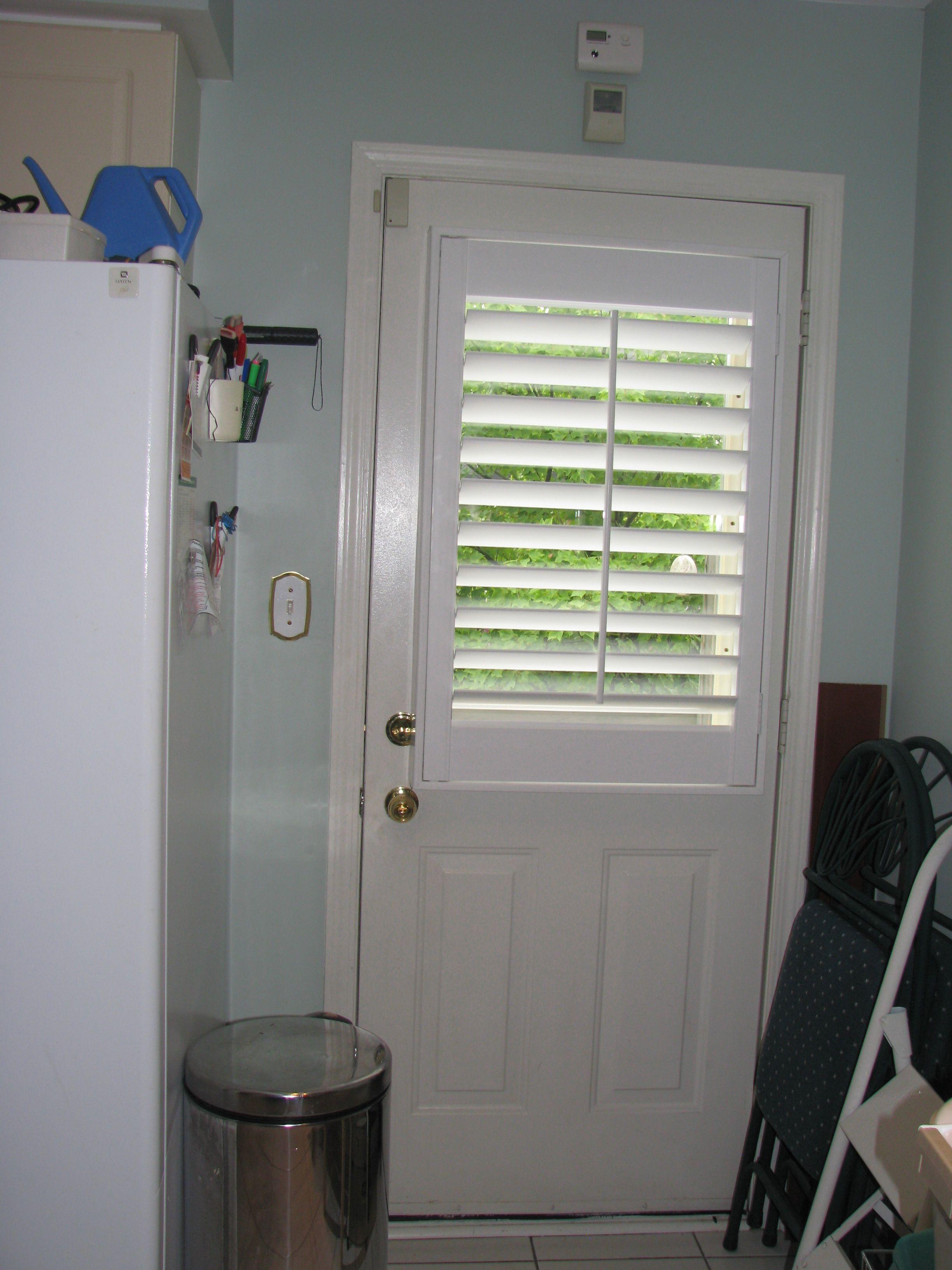 Shutters for half window in a balcony door.   Custom window ...