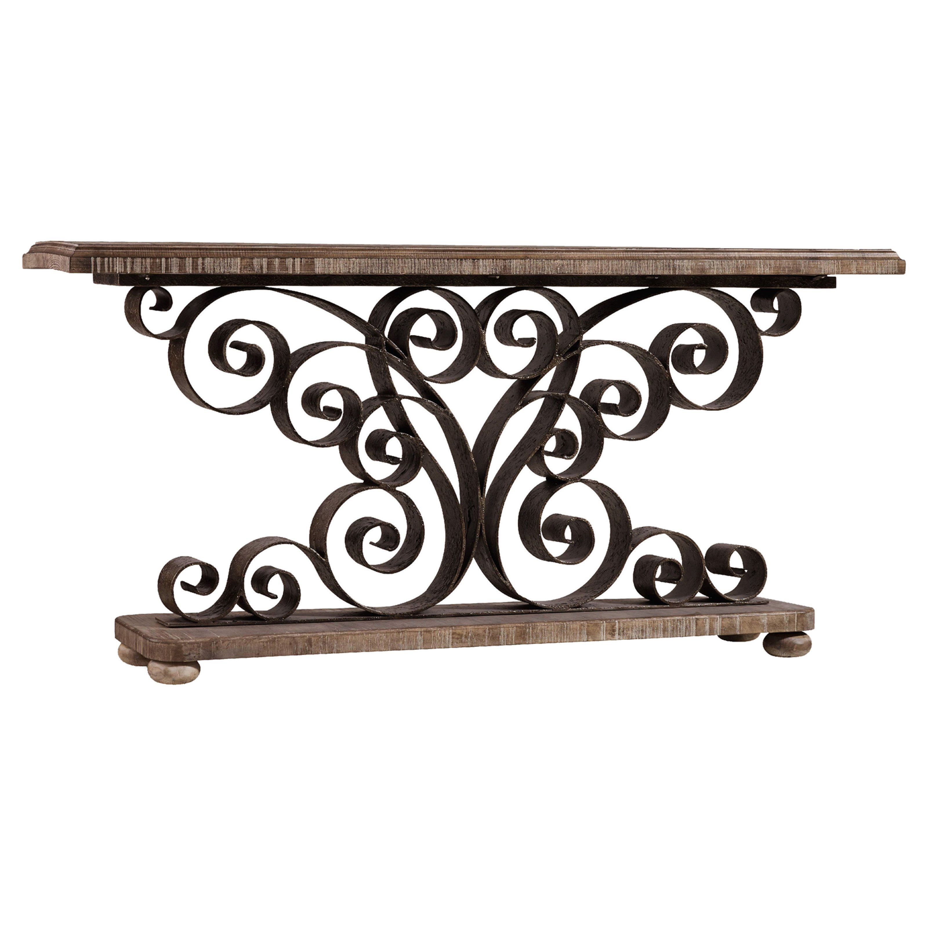 Hooker Furniture Metal Scroll Console Table | from hayneedle.com ...