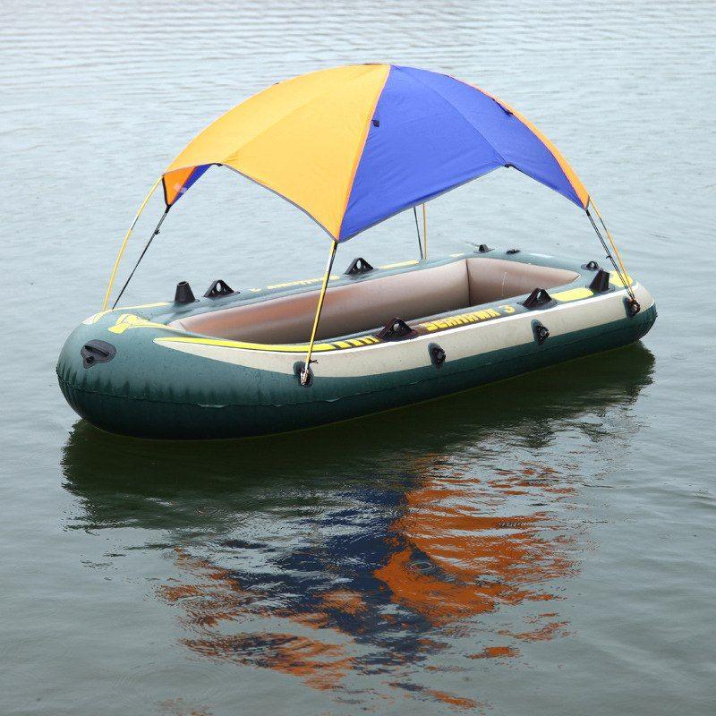 Inflatable Boat Kayak Accessories Fishing Sun Shade Rain Canopy Kayak Kit Sailboat Awning Top Cover 2 4 Persons Boat Shelter Boat Canopy Inflatable Boat Boat