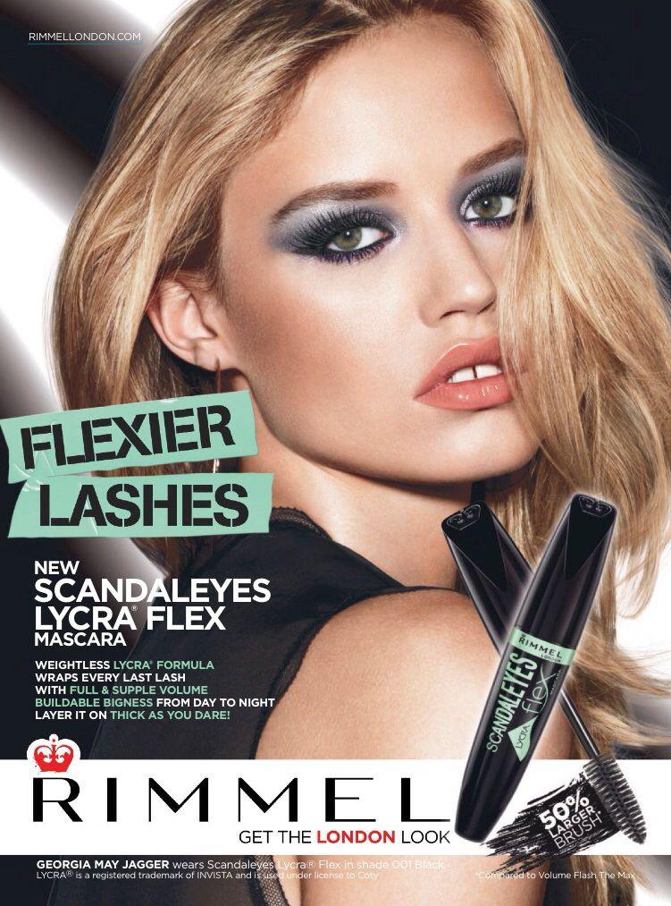 Rimmel Cosmetics Advertising Makeup poster, Makeup