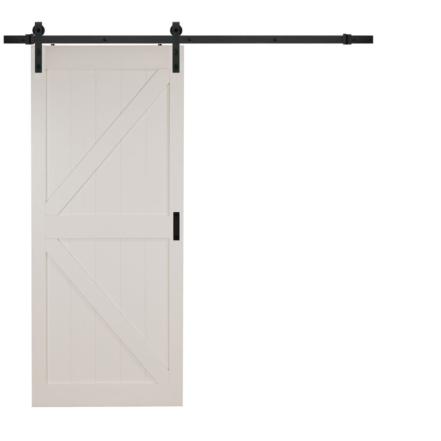 Reliabilt off white k frame soft close barn door common 36 in x 84 shop reliabilt white mdf solid core barn door with hardware common 36 in x 84 in actual planetlyrics Image collections