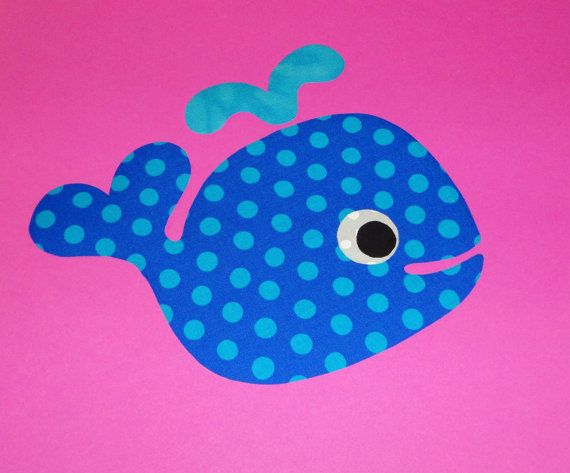 Applique pdf template pattern only heart tail whalenew by etsykim