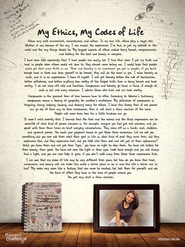 Codes Of Life Poster Rachel Joy Scott Rachel scott, Code of