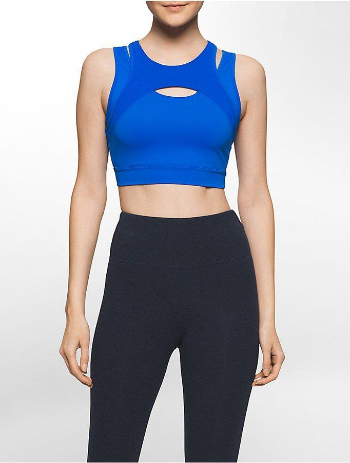 30bfae6eed798 Pin for Later  Pretty Longline Sports Bras For Every Budget  40  Calvin  Klein Performance Cutout Front Long-Line Sports Bra Calvin Klein  Performance Cutout ...