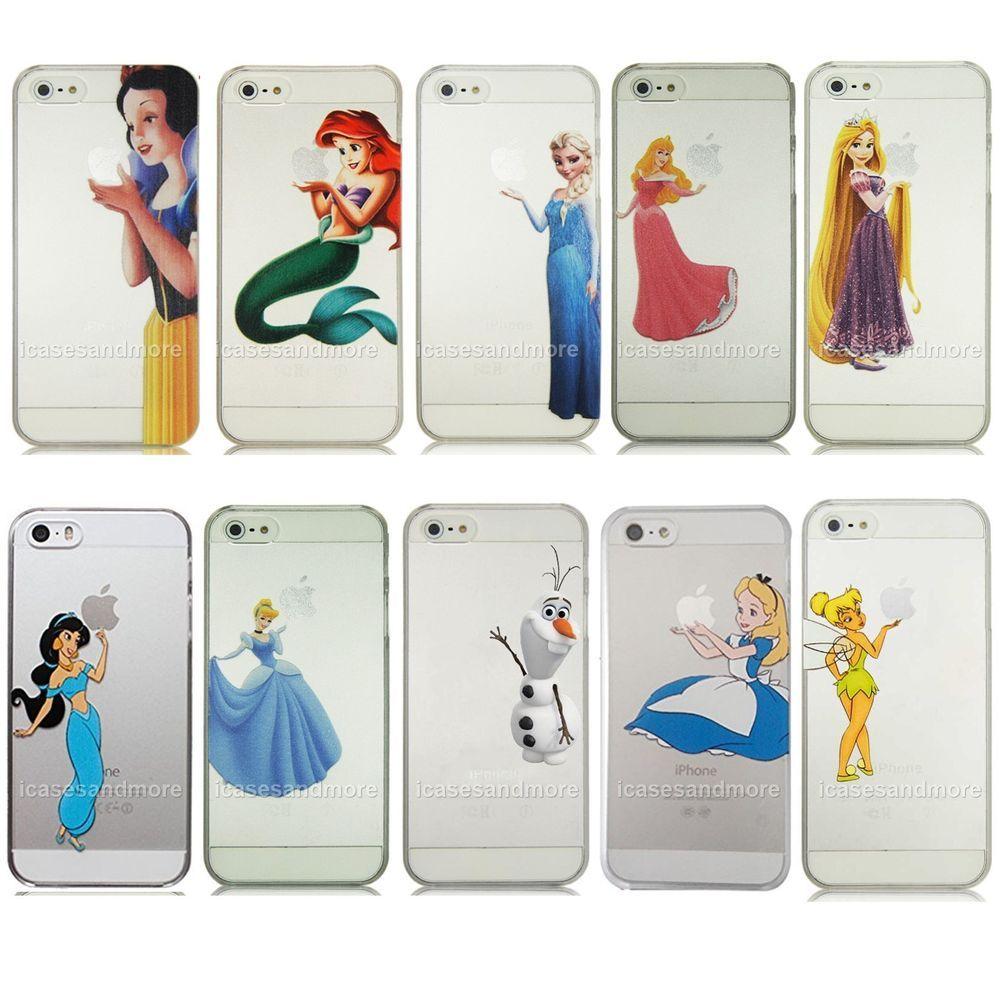 Princess semi transparent plastic hard case iphone 4 4s 5 5s 5c 6 ...