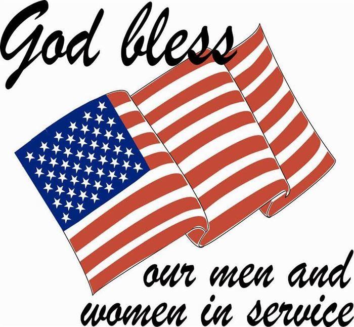 God Bless Our Men And Women In Service Veterans Day Clip Art Clip Art Memorial Day