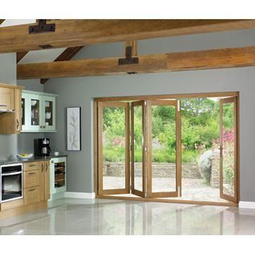 La Porte Vista Oak Folding Patio Doors Fully Decorated Dom Domiki Dizajn Interera