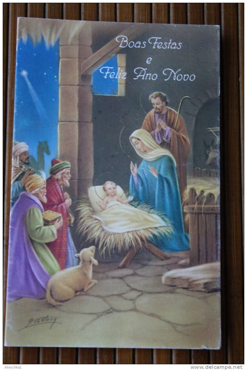 Buon Natale Joyeux Noel Merry Christmas Carte Postale Fantaisie Nouvel An Nacimiento