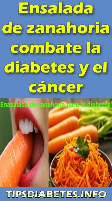 zanahorias y diabetes