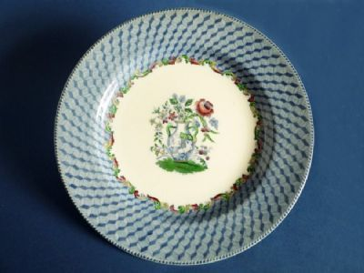 A fine Copeland Spode dinner plate printed in medium blue with the central Portland Vase motif and inner scroll border picked out with coloured & Copeland Spode \u0027Portland Vase\u0027 Dinner Plate c1900   Early Spode and ...
