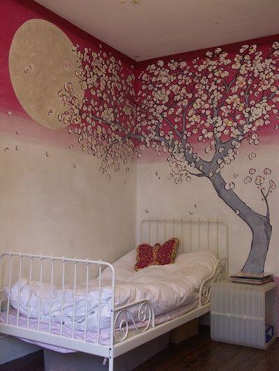 Murals On Canvas Portfolio Childrens Murals Decor Tree Mural Wall Murals