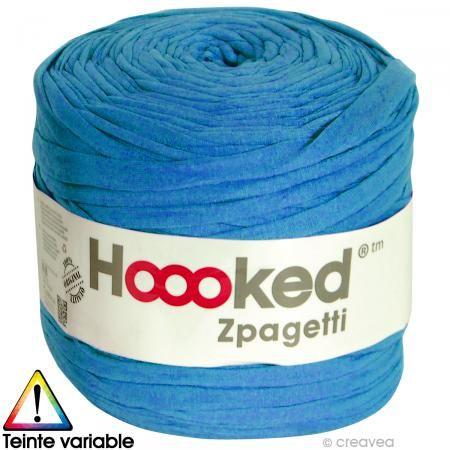 Zpagetti Hoooked DMC - Ovillo Jersey Azul profundo - 120 metros - Fotografía n°1