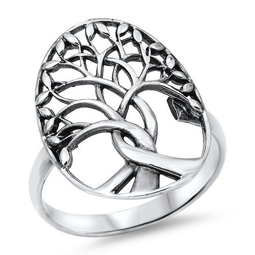 Silver Ring Tree of Life Size 11 RP14185111 Kailees Jewelry Box
