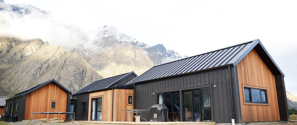 Cedar and Black Cladding House Exterior Open Plan Home Design ...