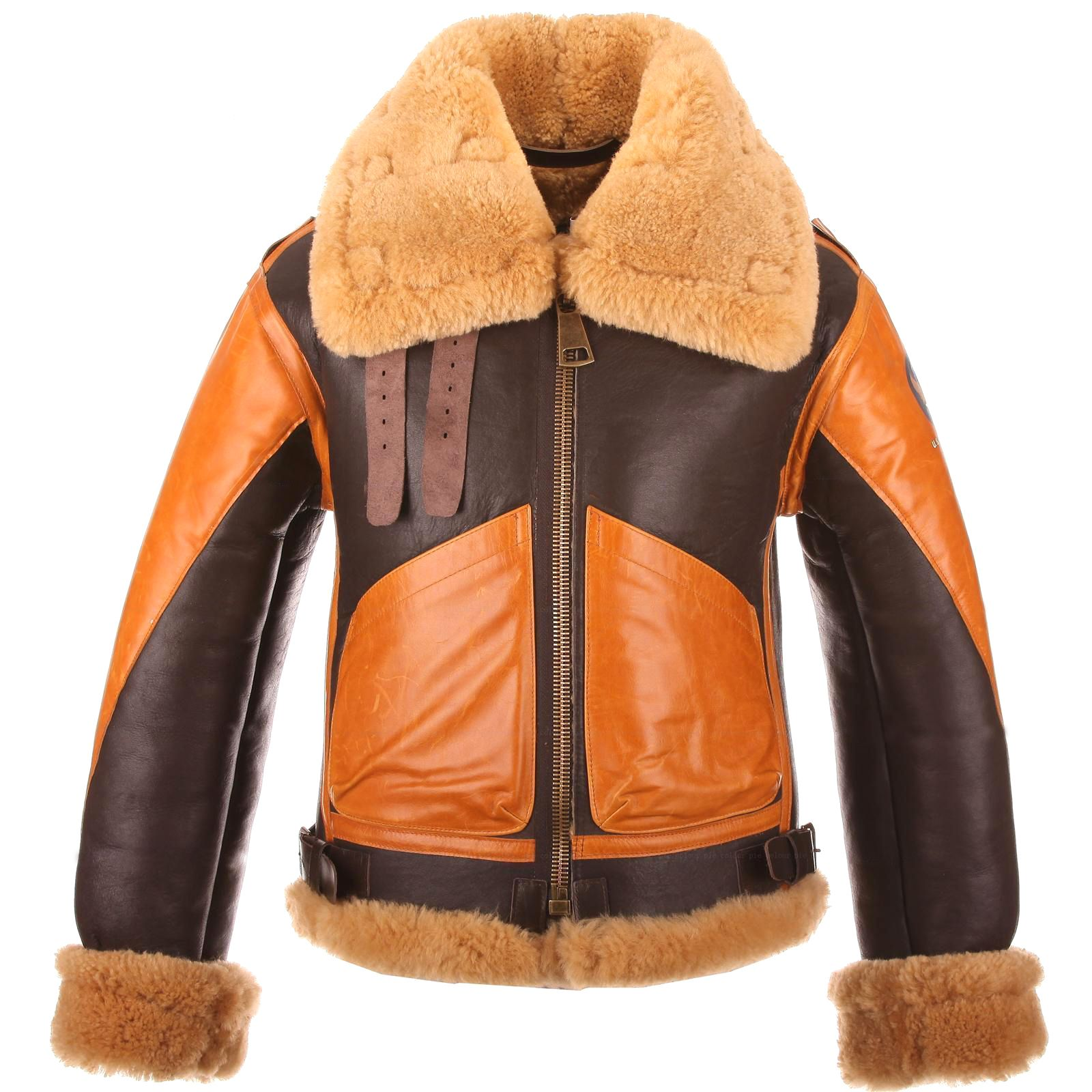 Aviator Men's Raf B3 Sheepskin Ginger Leather Shearling KcTl13FJu