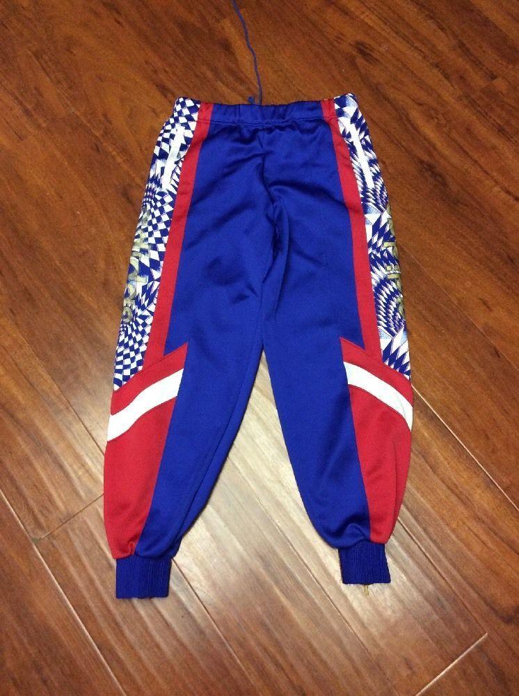 9afdd76c3d3 Vtg Adidas Trefoil Logo Red White Blue Gold Track Pants Mens Track Jogging   adidas  Pants