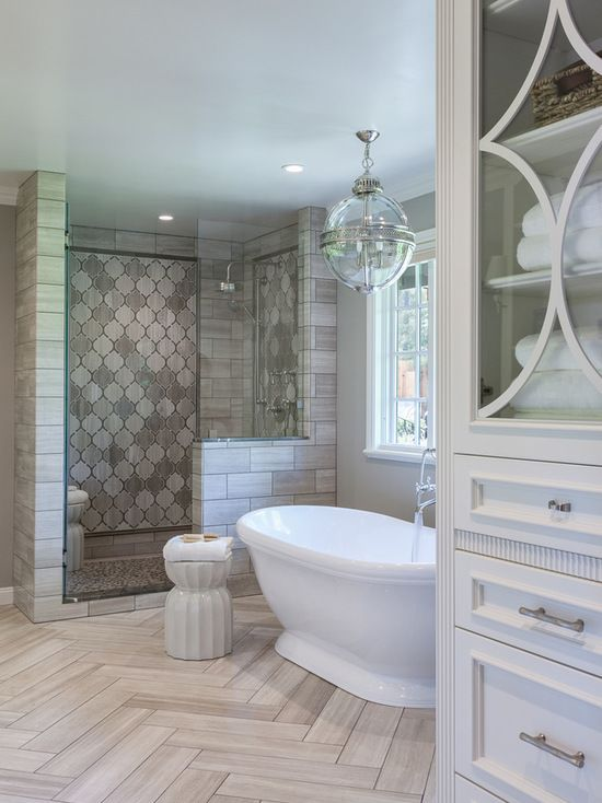 60K Bathroom with an Alcove Shower Design Ideas \ Remodel Pictures
