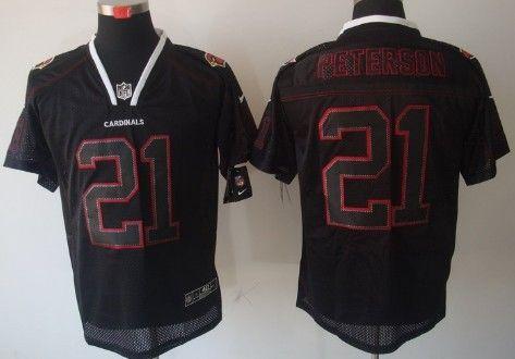 New Nike Arizona Cardinals #21 Patrick Peterson Lights Out Black Elite  hot sale