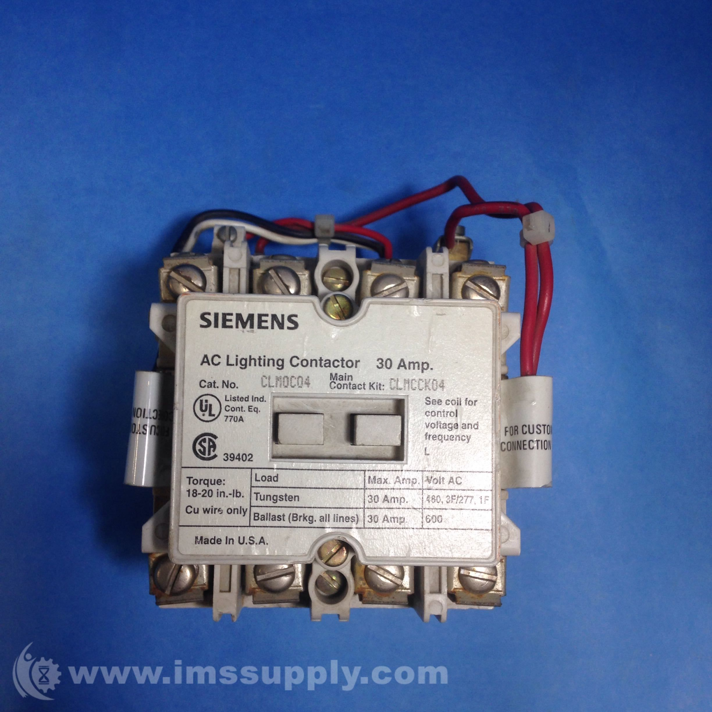 Siemens Clm0c04 Electrical Contact Kit Siemens Kit Electricity