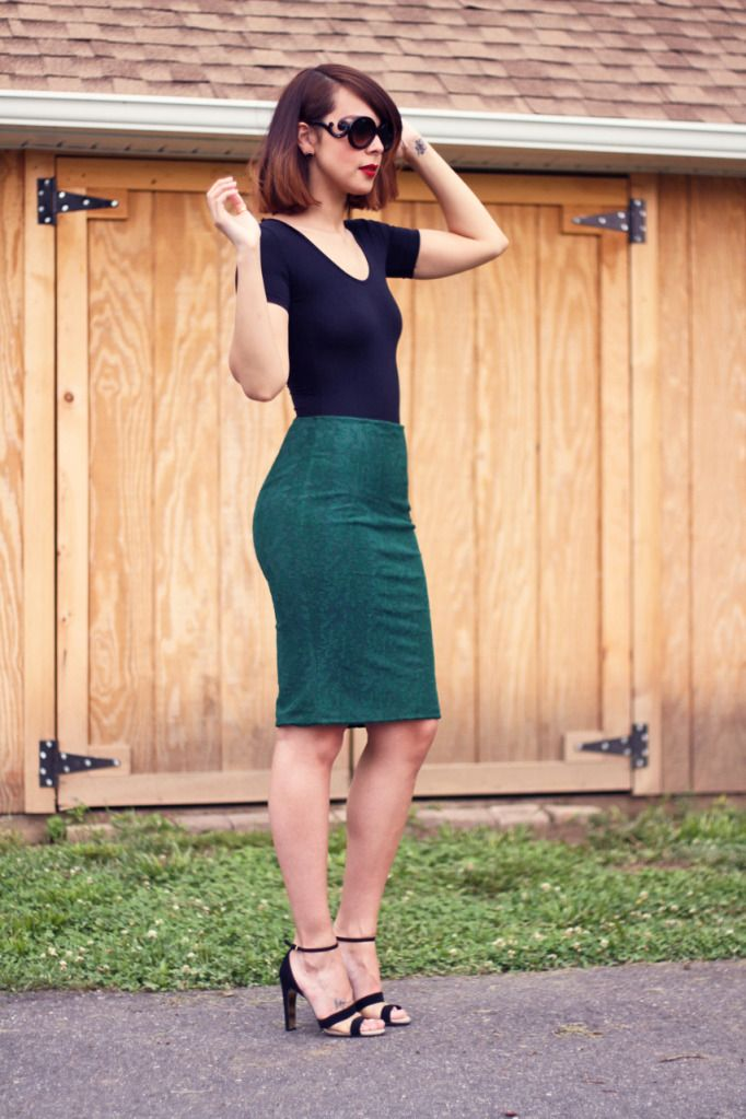 17 best images about What to Wear with Dark Green Skirt on ...