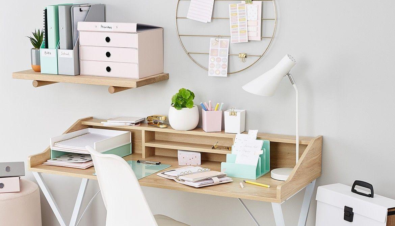 Organise Your Desk With The Belp Ok Kmart Australia Style Office Desk Decor Kmart Home Dining Room Table Makeover