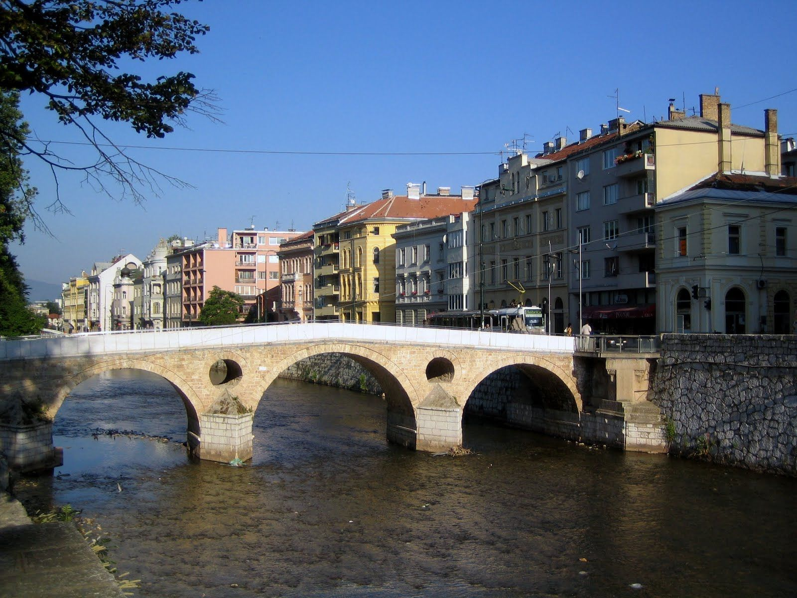 Sarajevo Bosnialatin Bridge Where The Archduke Franz
