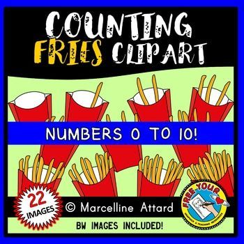 #COUNTING #CLIPART: COUNTING #FRENCH #FRIES CLIPART: #FOOD CLIPART