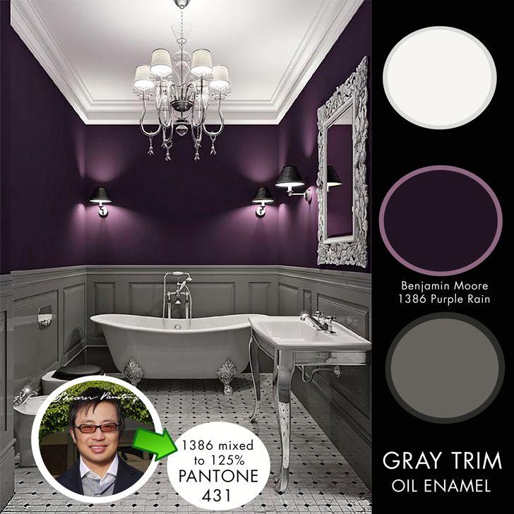 10 Beautiful Kitchens With Purple Walls: Benjamin Moore 1386 Purple Rain