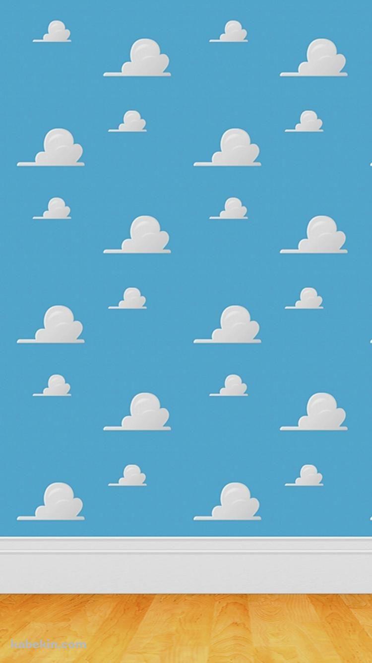 かわいい雲のパターンのiphone壁紙 トイストーリー 装飾 Iphone7