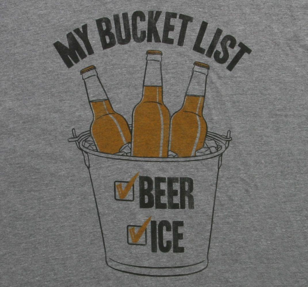Bucket List T Shirt Beer Check Ice Double Check Great Tee Mega Check Bucket List Tshirt Bucket List Beer Tee