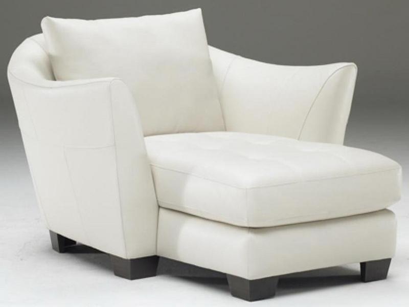 Leather Shaped Natuzzi Chaise Lounge : White Natuzzi ...