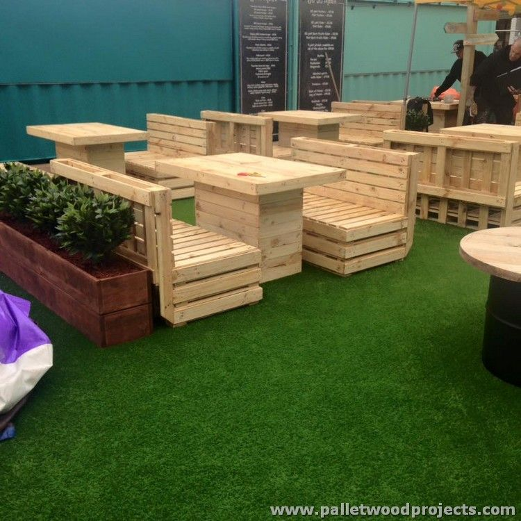 Tremendous wooden pallet plans pallets patio swing and for Outdoor furniture made from wood pallets