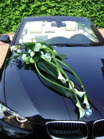 decoration voiture mariage arum
