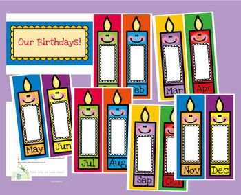 Birthday Posters Classroom Organization Labels Ideas Display Also Charts Rh