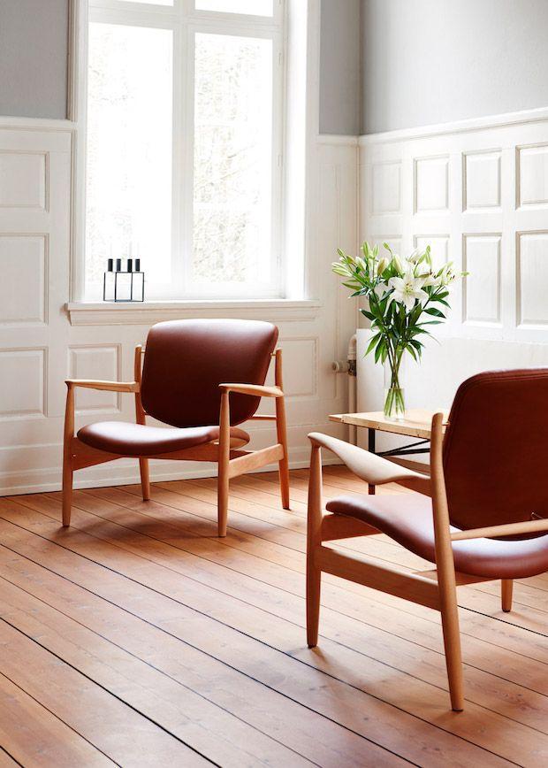 Relaunch Of An 1950 S Danish Design Chair By Finn Juhl Danish Design Chair Classic Furniture Design Chair Design