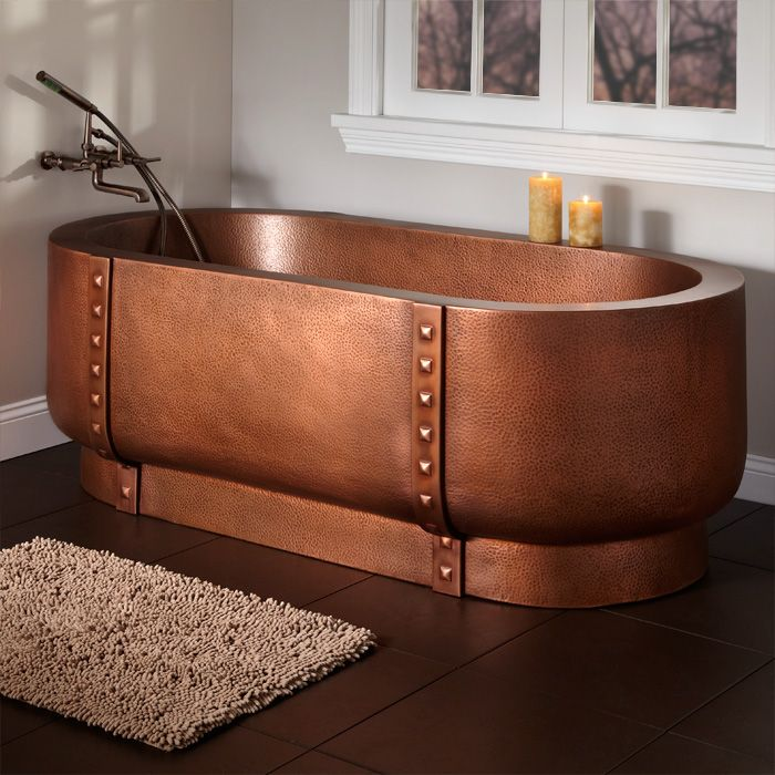 Hammered Copper Free Standing Tub Copper Copper