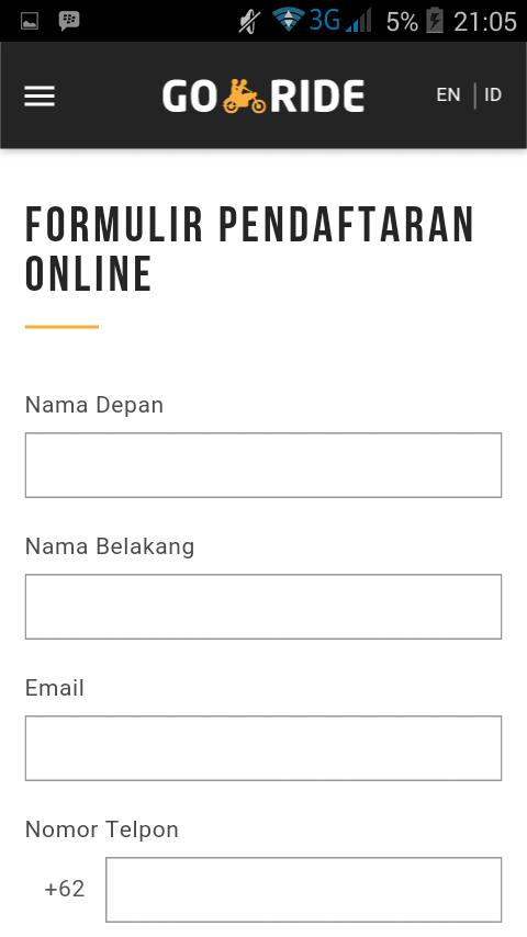 Newsberi Cara Daftar Online Jadi Driver Gojek Nama