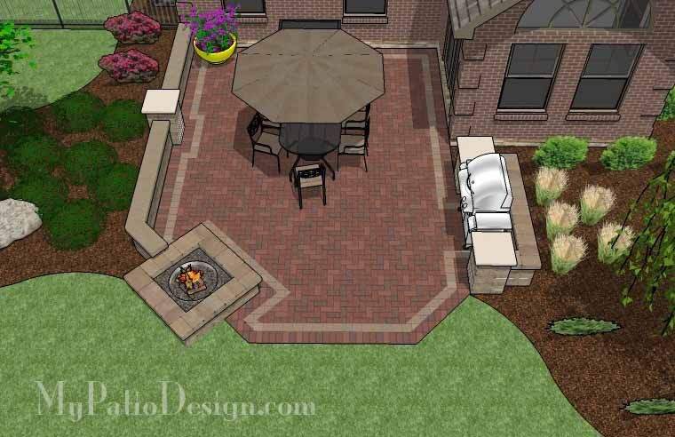 Attirant Simply Create 405 Square Feet Of Relaxing And Enjoyable Space With Our  Backyard Brick Patio Design With Fire Pit And Seat Wall. How Tou0027s And  Material List.