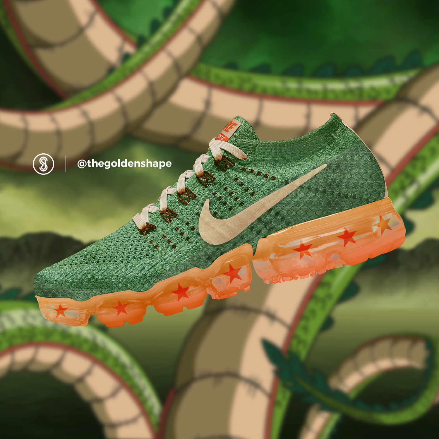 e6d83bad6 Dragon Ball Super x Nike Air VaporMax Shenron  Sneakers