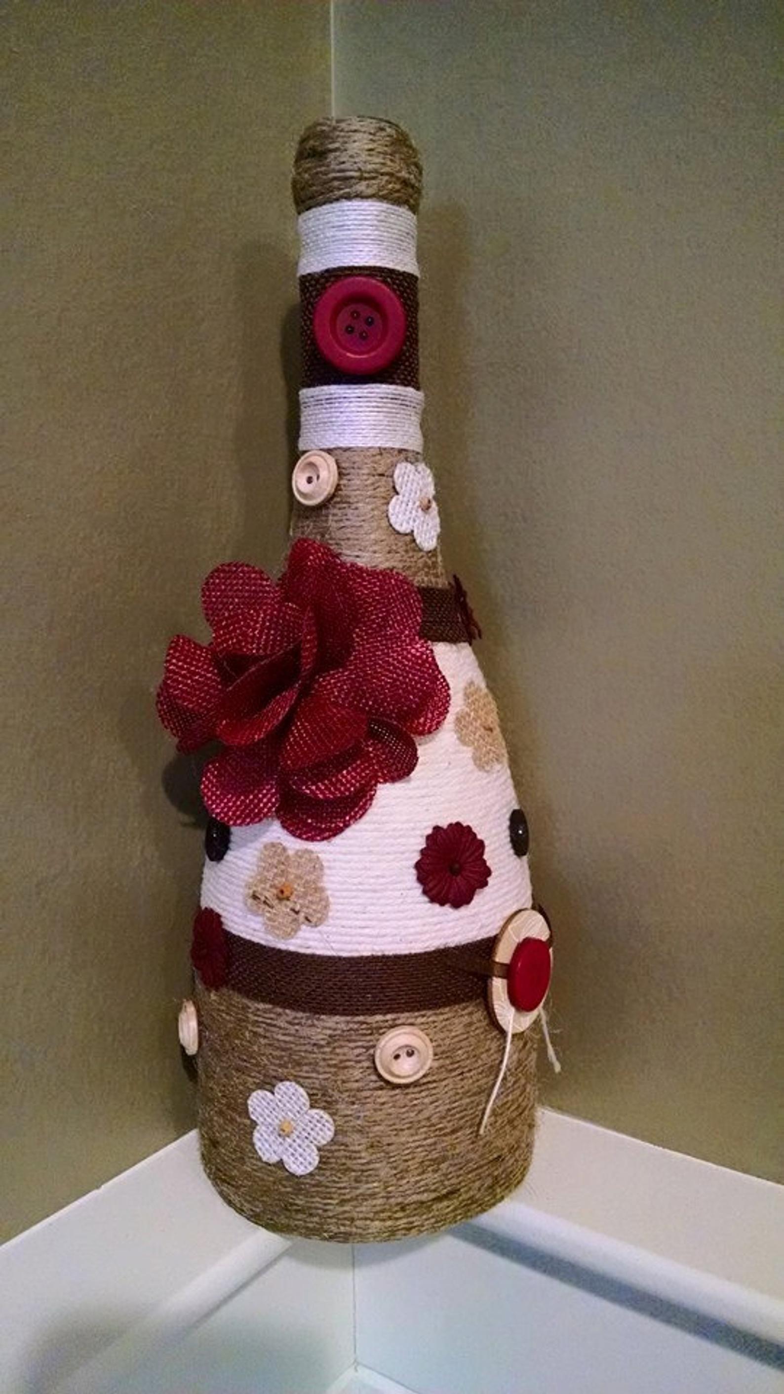 Wine Bottle Decor Etsy In 2020 Bottles Decoration Wine Bottle Diy Crafts Wine Bottle Crafts