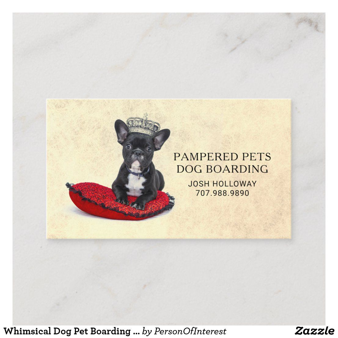 Whimsical Dog Pet Boarding Daycare Kennel Business Card Zazzle Com Pet Boarding Pet Care Business Pet Dogs