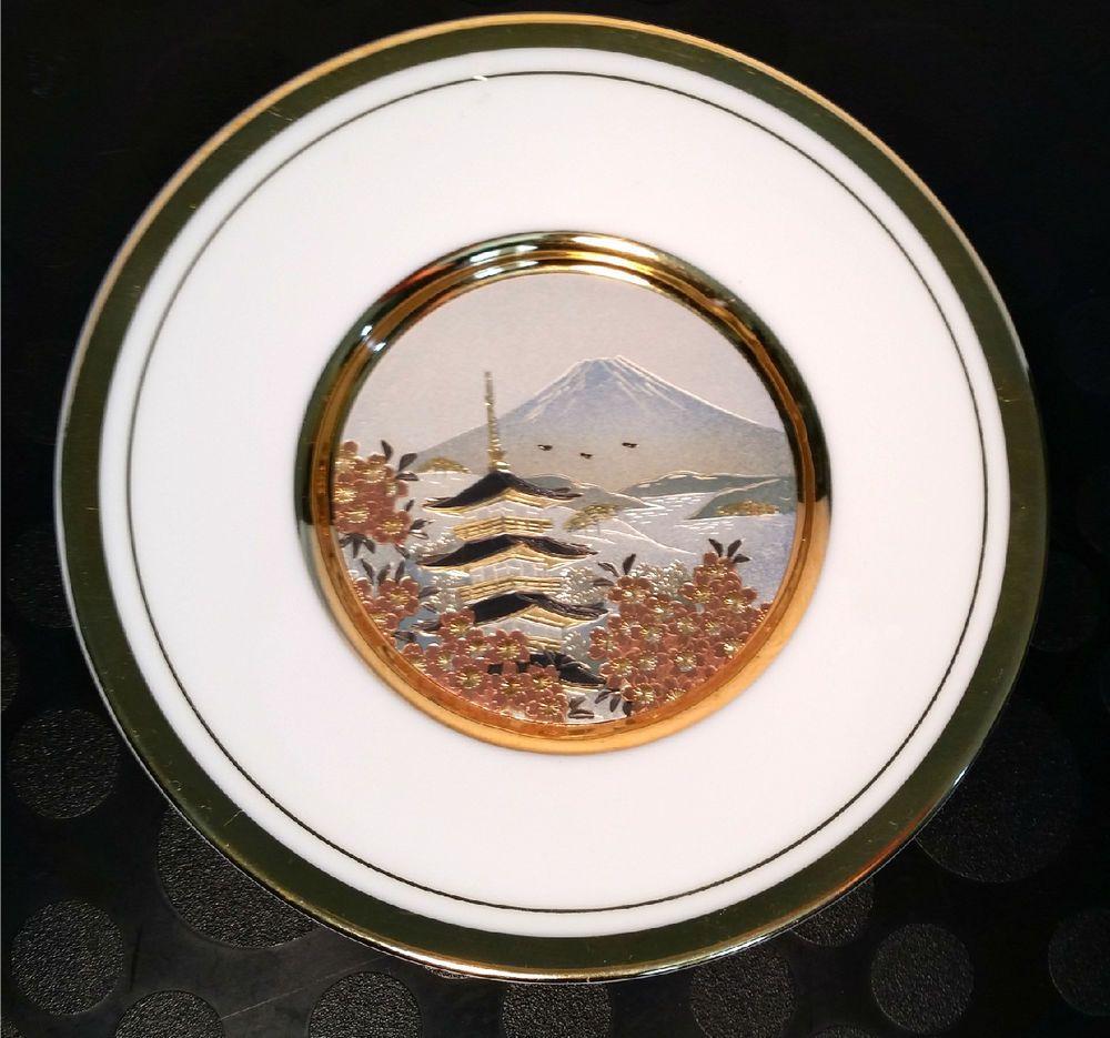 The Art Of Chokin 24k Gold Edged 6inch Wall Plate Samurai