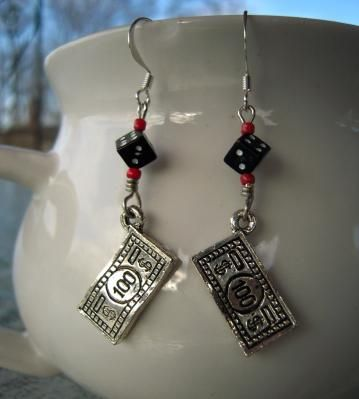 Adorn your ears with a hundred dollars, maybe they will be your lucky talisman.....$100$ Lucky Charms