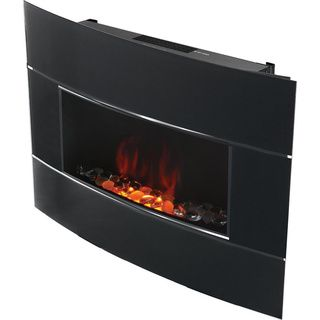 Bionaire Black Electric Fireplace Overstock Shopping Great