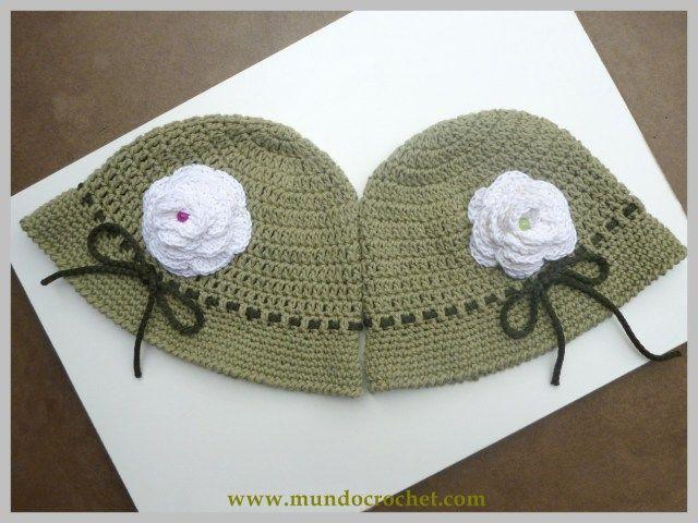 Gorro de verano para niña a crochet o ganchillo03   Le crochet ...