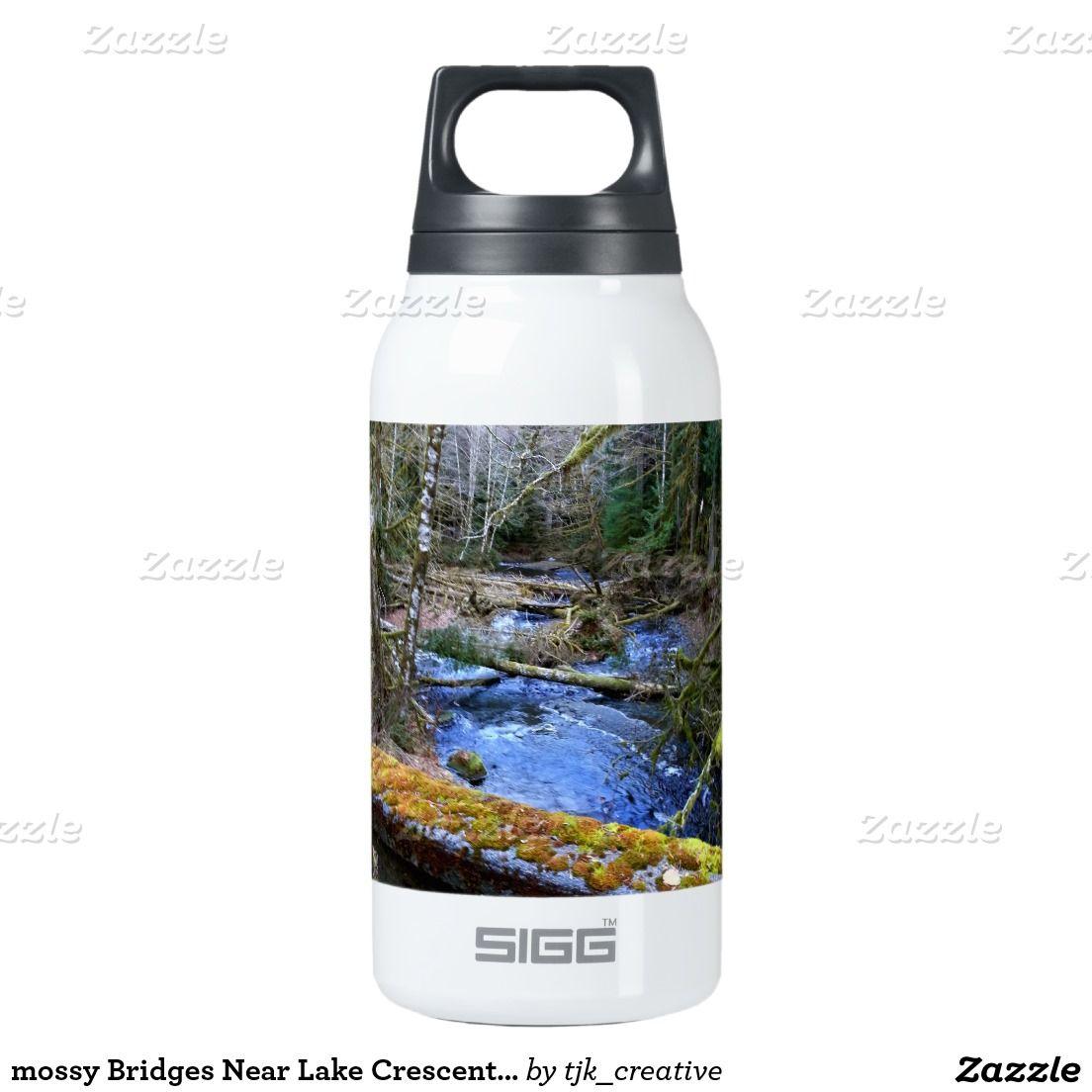 mossy Bridges Near Lake Crescent Lodge Insulated Water Bottle