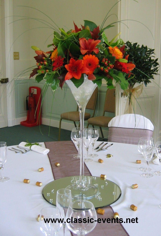 Wedding table flower arrangements thursday 26 november 2009 wedding table flower arrangements thursday 26 november 2009 martini glass floridaeventfo Images