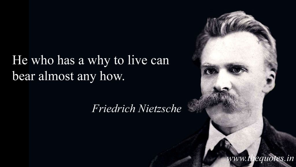 He Who Has A Why To Live Can Bear Almost Any How Friedrich Nietzsche Friedrich Nietzsche Friedrich Google